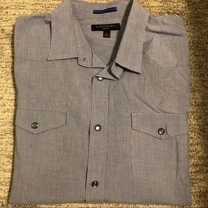Banana Republic Snap Button Down Slim Fit Shirt L